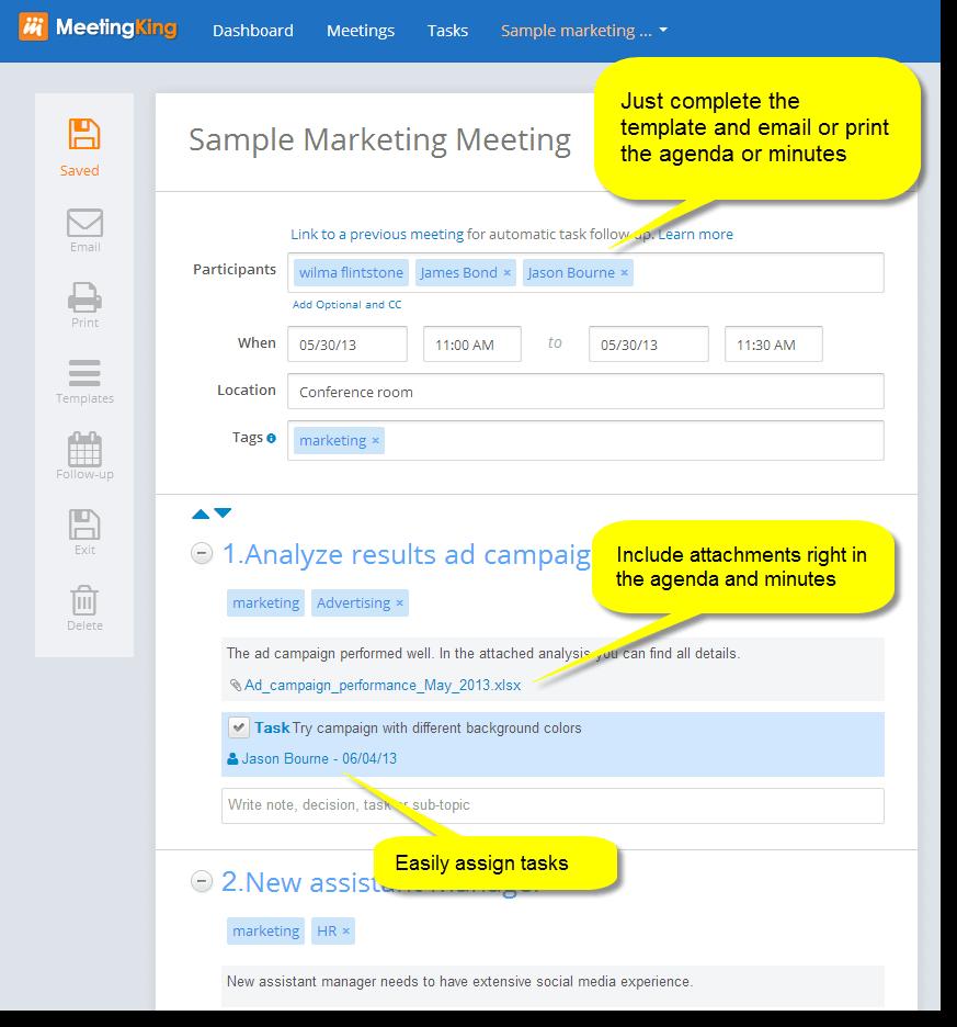top meeting management software