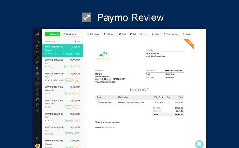 Productivity Land, paymo review