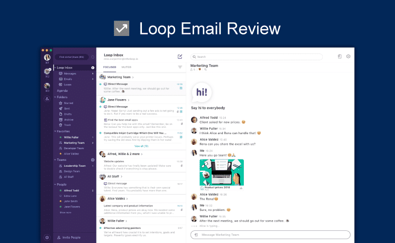 Loop Email Review, Loop Email, intheloop, Productivity Land