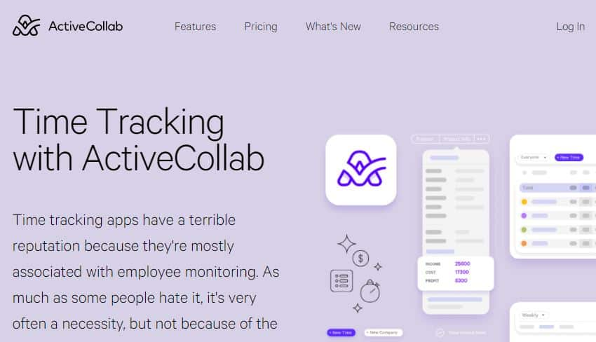 ActiveCollab time tracking