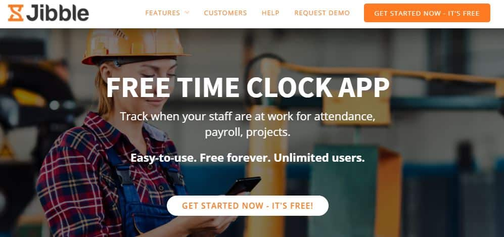 Jibble time clock app