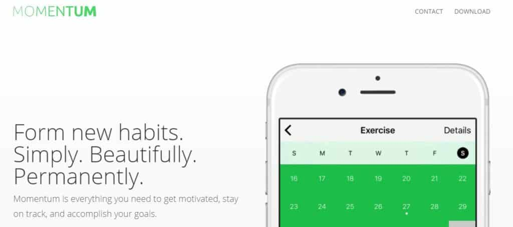 Momentum habit tracking app