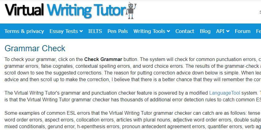 Virtual writing tutor