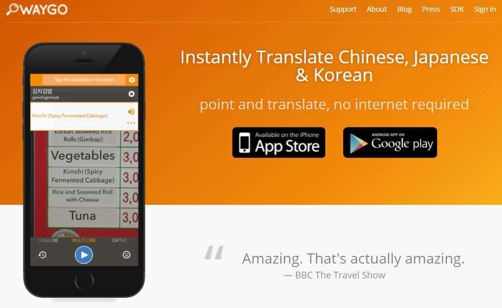 Waygo translate app