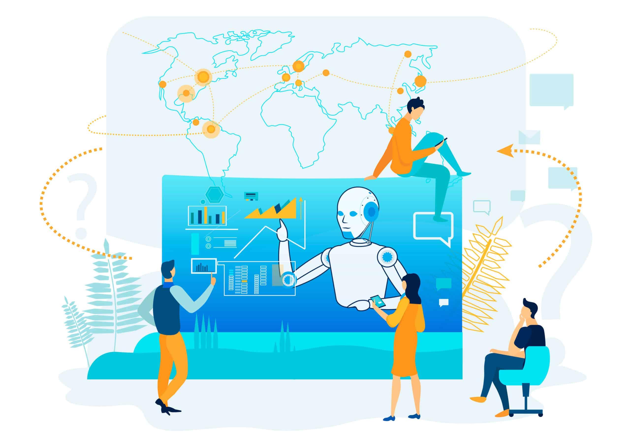 business automation, productive artificial intelligence, digital project management basics