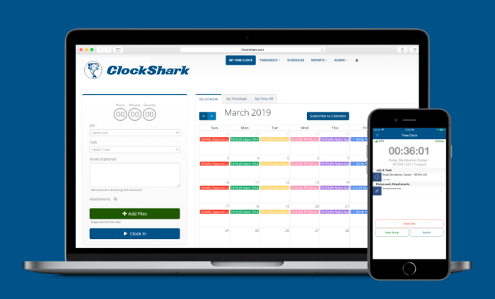 best time tracking software, clockshark screenshot, productivity land, productivityland