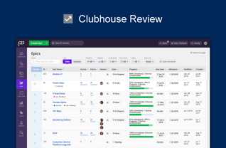 Clubhouse Review, Project Management Software Review, Productivity Land, ProductivityLand