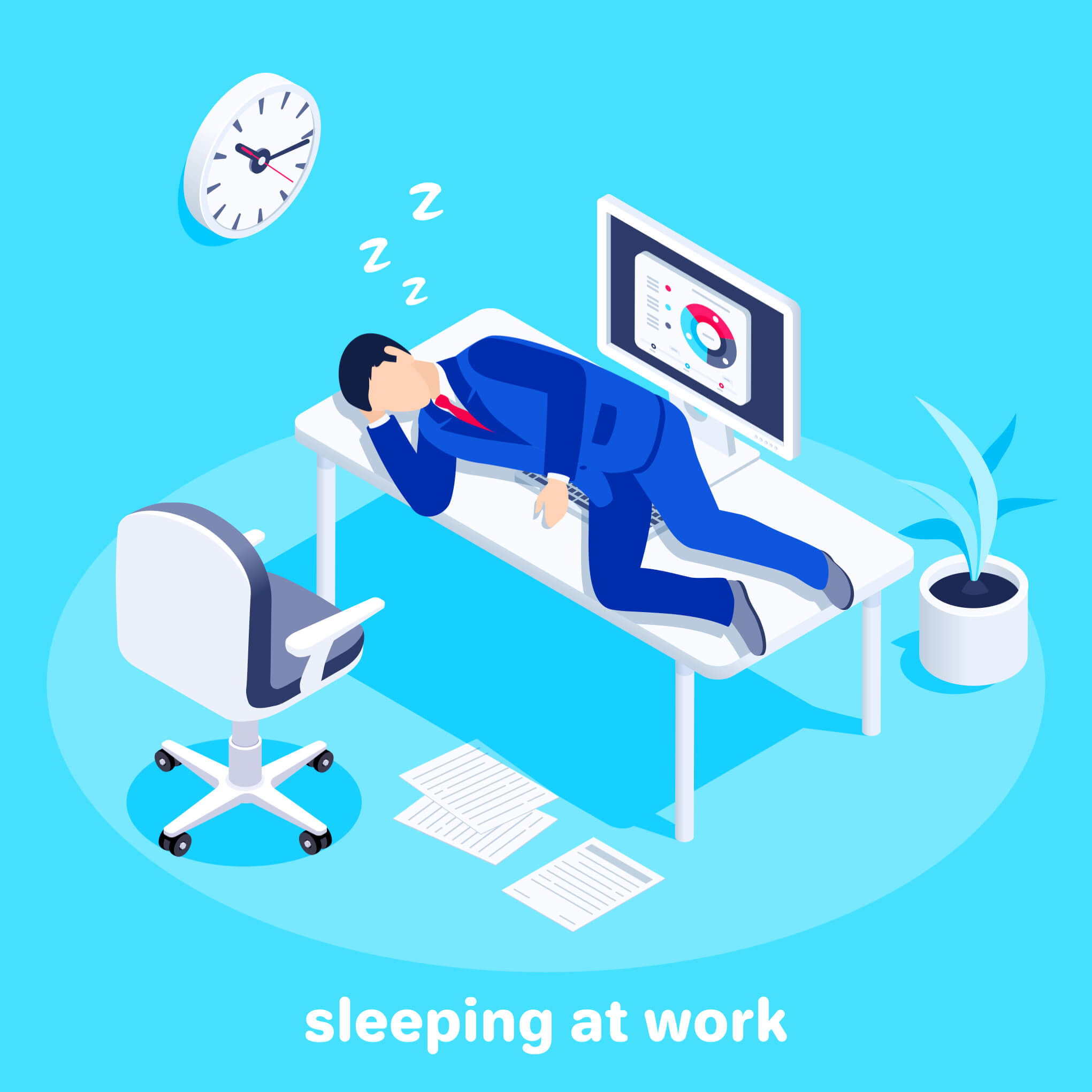 sleep, sleep deprivation, sleeping on job, sleeping project manager