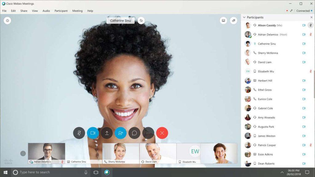 how to use cisco webex meeting app