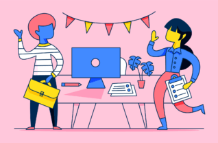 welcome new employees with the help of in-person interview