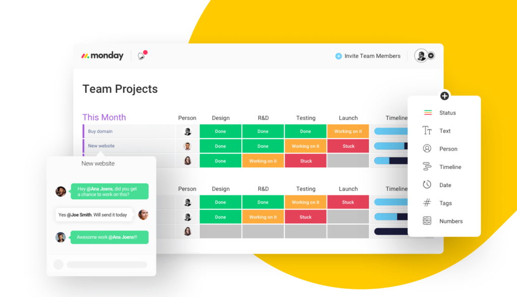 task management with monday da pulse